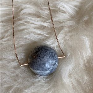 COS Marble Effect Rubber Ball Pendant Necklace